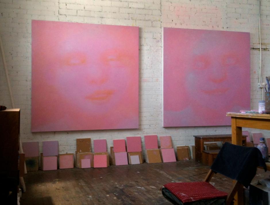 2 large paintings_mcnamara