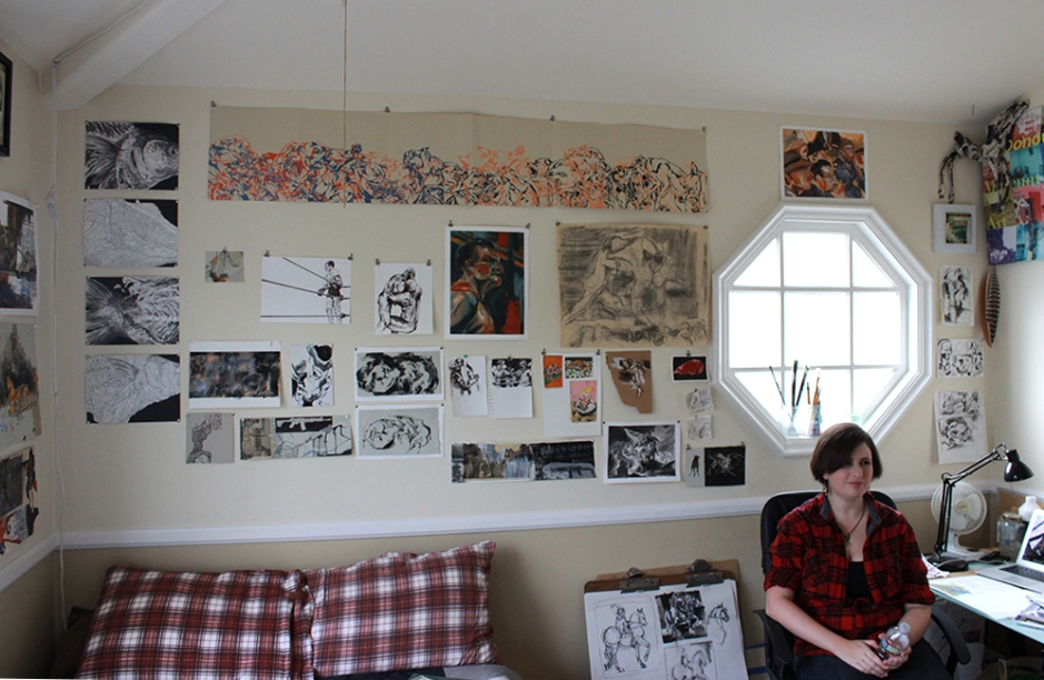 Bravin in her Palos Verdes Studio