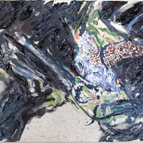 One of Brown's tide pool paintings (Still Life Nocturne Series)